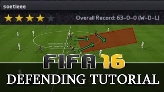 FIFA 17 (16)  DEFENDING TUTORIAL - ADVANCED TECHNIQUES - THE DEFENDING TRICK