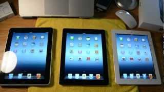 iPad 1, 2, & 3 Comparison!