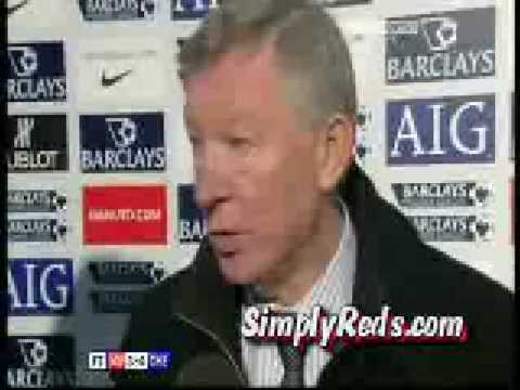 Manchester United 3-0 Chelsea - Alex Ferguson Reponds to Rafa Benitez's Comments