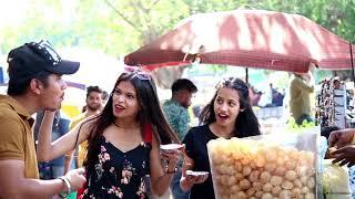 Eating girl's Pani Puri prank #2   Pani Puri prank on cute girls   Pranks in India   We Insane