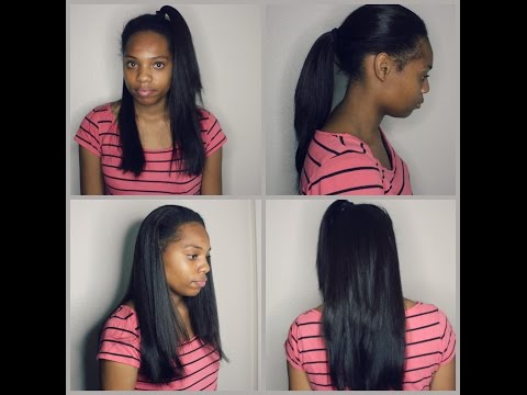 💝💖FLAWLESS VERSTILE MIDDLE PART SEW-IN ON SHORT NATURAL HAIR💖💝