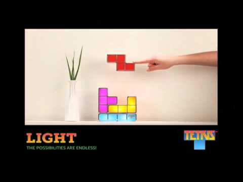 Tetris Stackable LED Desk Lamp from ThinkGeek