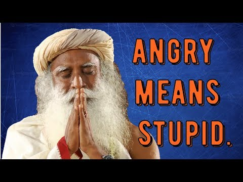 Sadhguru -next time you're angry - know you're stupid