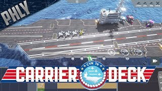Carrier Deck - USS Ronald Reagan Simulator - Carrier OPS (Carrier Deck Gameplay)