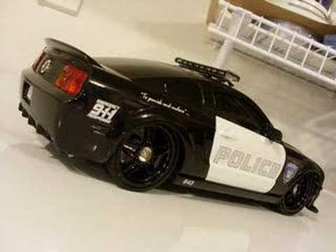1/16 Barricade GT 500 Custom Dub City R/C Cop Police Car BTM