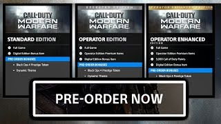 SPECIAL EDITIONS REVEALED (Modern Warfare) CAN PRE-ORDER NOW!