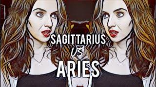 SAGITTARIUS VS ARIES | Love & Anger Compatibility | Hannah's Elsewhere
