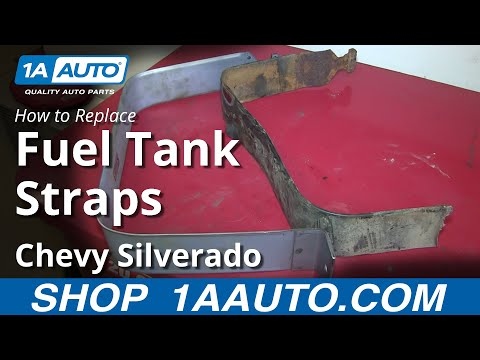 How To Replace Install Rusted Gas Tank Straps 1999-06 Chevy Silverado GMC Sierra
