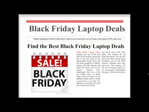 Black Friday Laptop Deals 2012