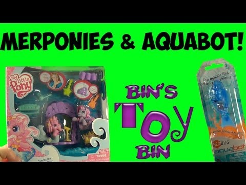 My Little Pony MERPONIES G3 Pinkie Pie & Star Song + HexBug AQUABOT Fish! Review by Bin's Toy Bin