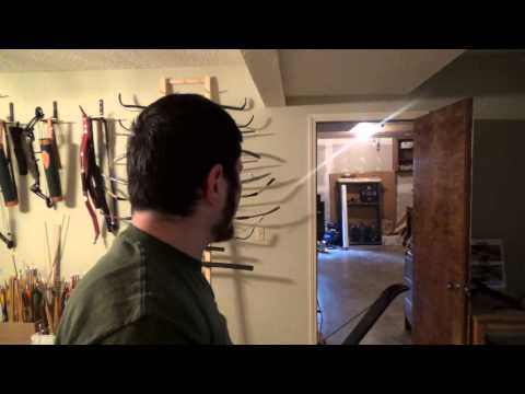 Shooting Out a New Bow - 45 Pound PVC Recurve