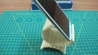 How to make cell phone holder using toothpick | life hack with toothpick