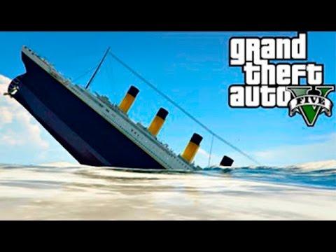 GTA 5 Моды - ТИТАНИК! - Потопил Титаник в ГТА 5!