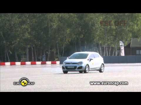 Euro NCAP | Kia Rio | 2011 | Электронный контроль устойчивости