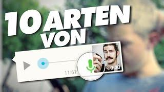 10 ARTEN VON WHATSAPP-SPRACHNACHRICHTENSENDERN (feat. Fitti)