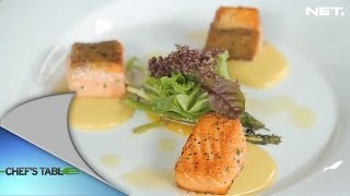 Chef's Table - Appetizer - Salmon Asparagus with Sabayon with Gerindra Bimo