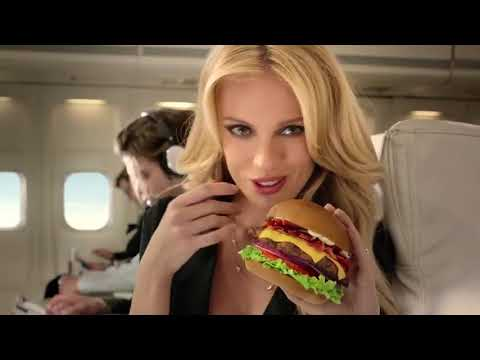 Sexy model Bar Paly in New Carls Jr Commercial