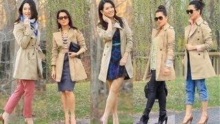 Styling Spring Trench Coat 5 Outfits
