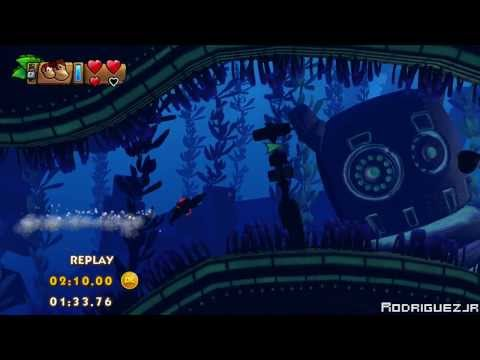 Donkey Kong Country: Tropical Freeze 4-3 Amiss Abyss Time Attack (Shiny Gold | 01:40:80)