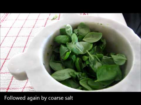 How to make Pesto Genovese: original Italian recipe