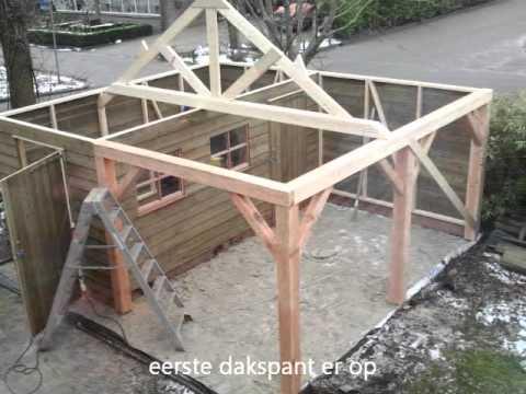 Goedkope houten overkapping