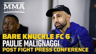 BKFC 6: Paulie Malignaggi Post-Fight Press Conference - MMA Fighting