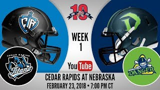 Week 1   Cedar Rapids Titans at Nebraska Danger