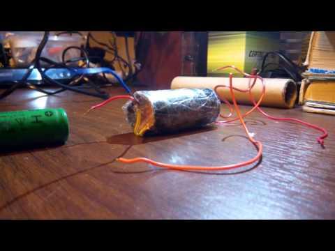 Как сделать электрошокер из батарейки видео