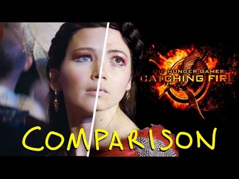 The Hunger Games Catching Fire Trailer - Homemade VS Original (Side by Side Comparison)