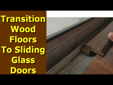 How to Transition Wood floors to Sliding Glass Doors and Tile