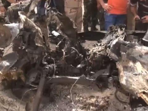 Raw: Aftermath of Car Bomb Near Damascus