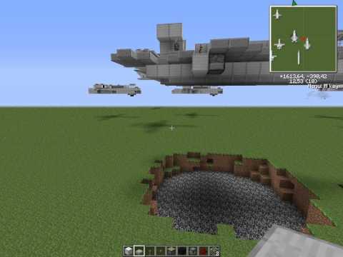 Minecraft F-22 Raptor (Истребитель/Jet Fighter)