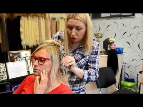 Наталья Гулькина наращивает волосы в студии #HAIRSTAR