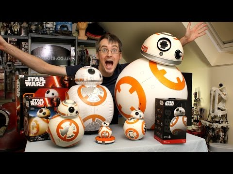 XRobots - Star Wars BB-8 BIG Toy unboxing review & comparison. Sphero. Bladez. Hasbro