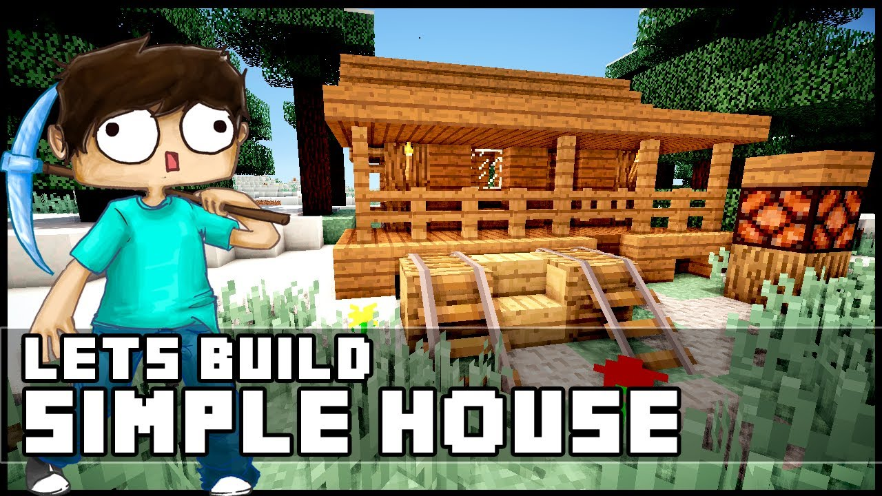 Minecraft how to build a simple starter house youtube for Simple houses to build