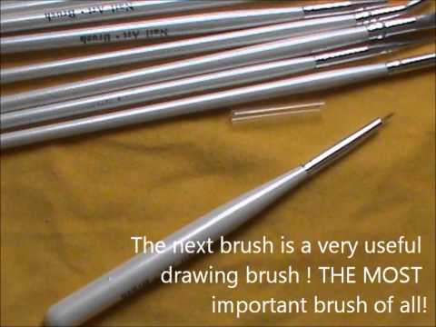 Secret to beautiful nail art - Nail art brushes ! Nail art brush uses! Review-Part 1