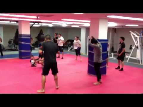 Muay Thai kickboxing drills at The Vault MMA and Fitness Image 1