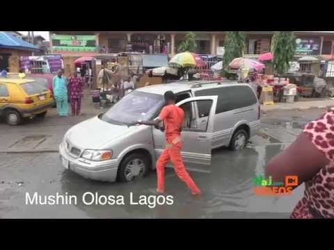 Lagos Flooding: The Deplorable State Of Mushin Olosa, Ikeja Roads
