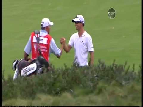 Adam Scott Albatross / Double Eagle 8th hole The Lakes Australian Open 2011