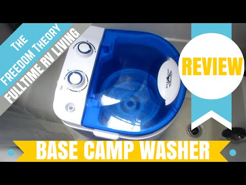 BASE CAMP PORTABLE WASHING MACHINE AND SPINNER REVIEW   The Freedom Theory