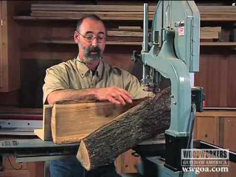 Woodworking Project Tips: Band Saw - Cutting a Log on a ...