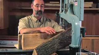 Woodworking Project Tips: Band Saw - Cutting a Log on a Bandsaw