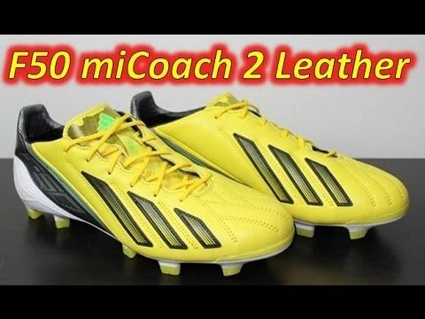 Adidas F50 adizero miCoach 2 Leather Vivid Yellow/Green Zest/Black - Unboxing + On Feet