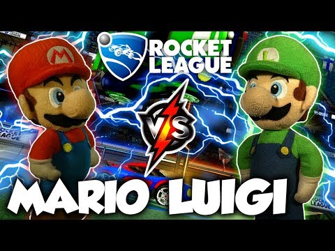 ABM: Mario Vs Luigi !! Rocket League Gameplay Match !! HD