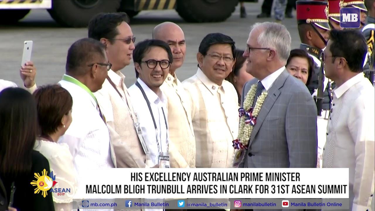 Australian Prime Minister Malcolm Bligh Turnbull arrives in Clark for 31st ASEAN Summit