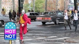 Joaquin Phoenix Films Dramatic Stunt Scenes as The Joker in NYC