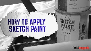 How to apply Sketch (whiteboard) Paint