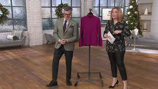 Joan Rivers Turtleneck Sweater with Tulip Sleeves on QVC