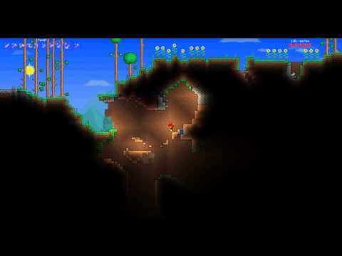 Lets Play Terraria Episode 3 Fending Off Those Zomblies The Proper Way :D
