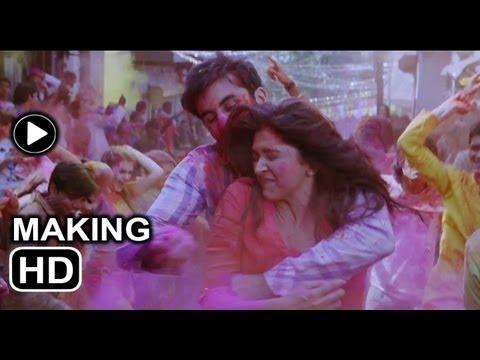 Balam pichkari song making: Ranbir goes colourful with Deepika...